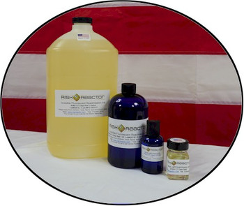 Set of our fluorescent invisible red sold in ounce, two ounce, pint and gallon sizes.