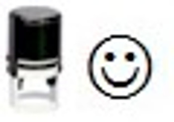 UV invisible inking stamp in the image of a smile.