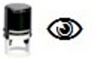 Eye image on self inking stamper