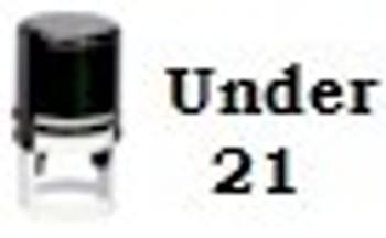 Under 21 Round Self Inking Stamper