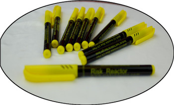 Black light blue pens ready to mark your personal property with invisible ink.