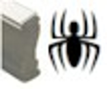 Wood uv spider stamp ready for your bar, club, or event