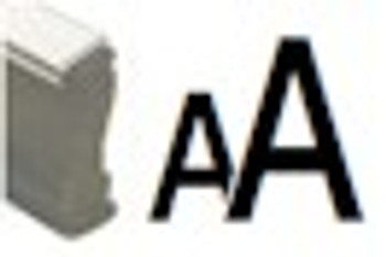 Blacklite invisible fluorescent marking devices with AA image on wood stamp