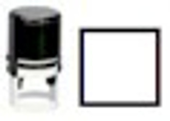un-inked self inking stamper with the square box stocked image.