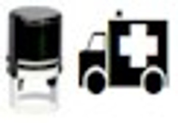 UV invisible ambulance stamp with selfinking mechanism