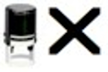X Round Self Inking UV Fluorescent Stamper