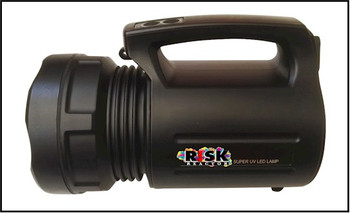 Lantern style hand grip non destructive and curing black light tool that is also rechargeable.