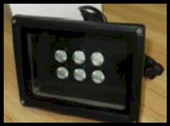 Eighteen watt black light flood for UV curing or for industrial inspection