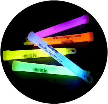 Glow sticks that you bend to mix the chemo-luminescent liquids producing the glow