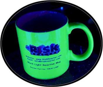 Risk Reactor Inc.'s super 15 ounce blacklight coffee mugs