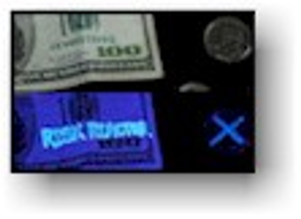 Black light ink can be used to invisibly mark materials using our black light fluorescent inks.