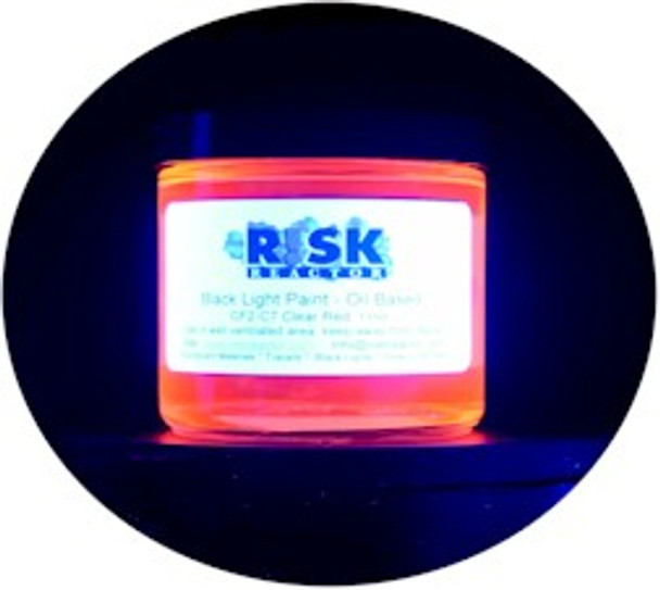Clear UV red coating for just about any surface and glows under 365 NM black light