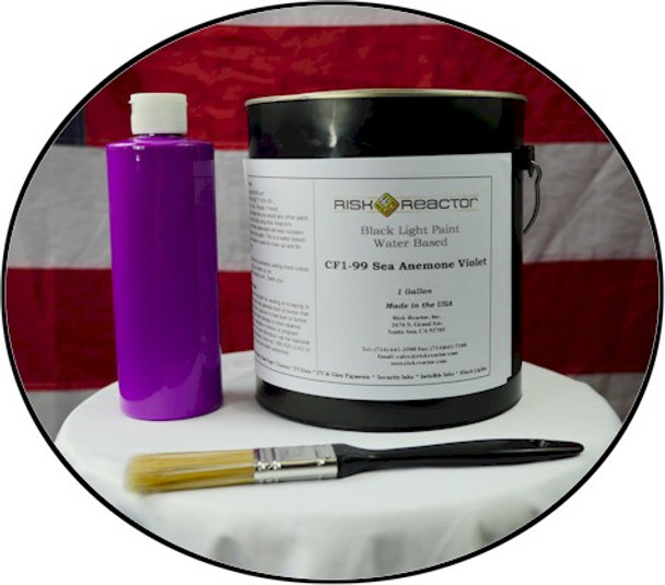 UV responsive coatings that day glow violet and really shine under black light.