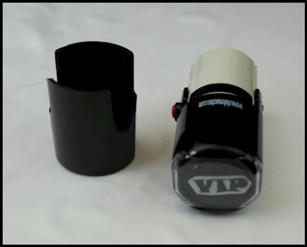 VIP stamper with the bottom off top view.