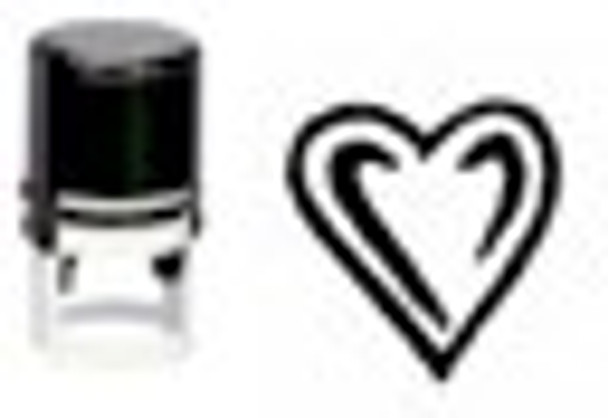 Heart Self Inking Round UV ID Stamper