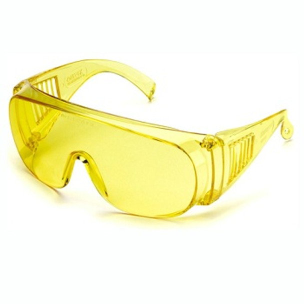 UV protective goggles for black light and UV enhancing applications.