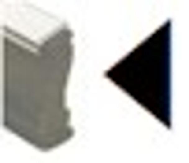 Left arrow on plastic handle uv fluorescent stamp