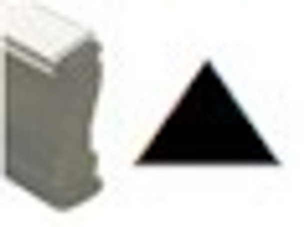 Arrow point up image on a wooden stamp for black light or regular marking ink
