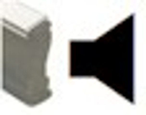 Wood handle stamp with right angle speaker image to be used with any porous marking inks