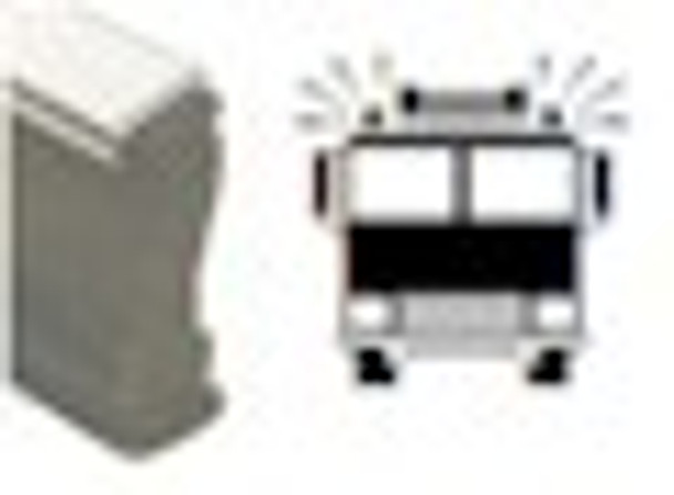 Wood hand UV stamp with fire truck image for any marking application