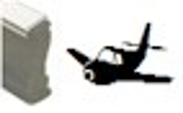 Small prop plane image on a hand black light stamp that requires a pad in order to use