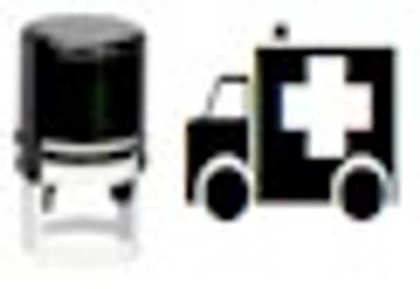 UV invisible ambulance stamp with selfinking mechanism