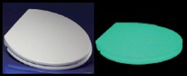 Even the glow in the dark toilet seat lids emit light all night, making this bathroom fixture a must for children and the aging