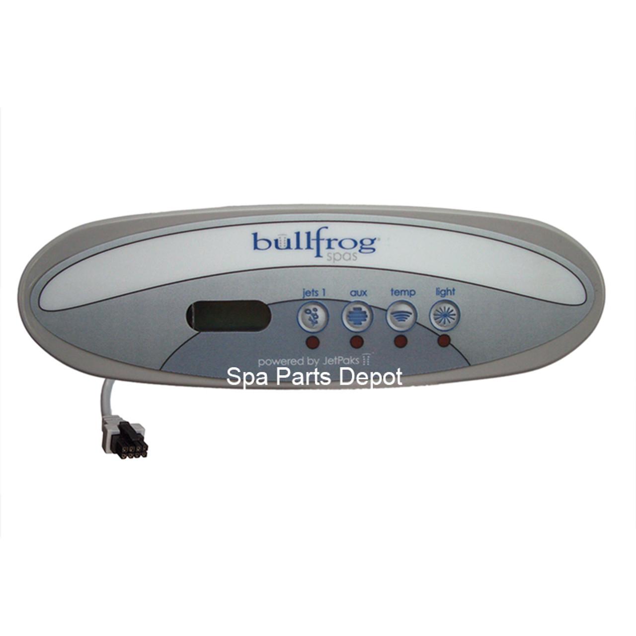 bullfrog spa control panel tadpole 4 button spa parts depot rh spapartsdepot com Imperial Spas by Jacuzzi Manual Jacuzzi J 345 Manuals