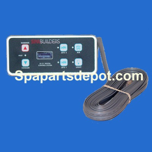 spa builders lx 15 topside 6 button 25 cord no remote 3 00 0221 rh spapartsdepot com Home Builder Home Builder