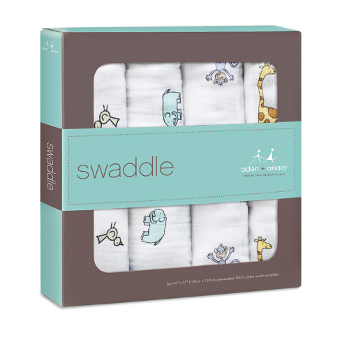 4-Pack Jungle Jam Classic Swaddles