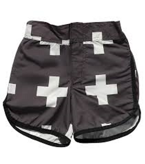 Black Plus Surf Shorts