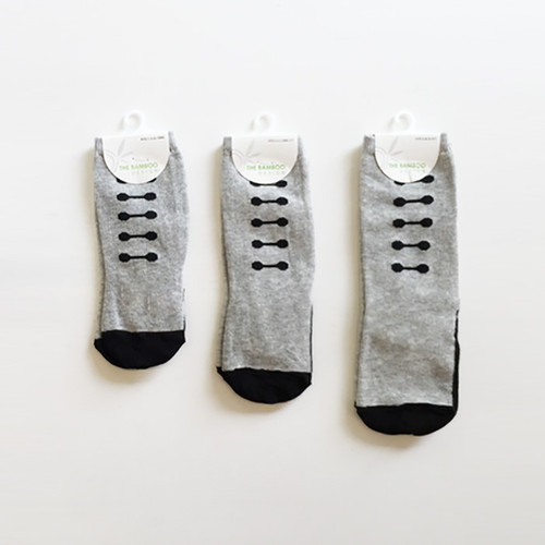 Grey Ladder Knee-Hi Socks