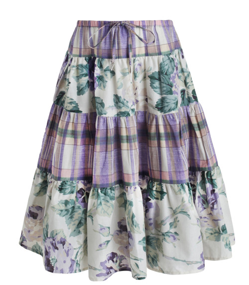 Lucia Tiered Maxi Skirt Splice