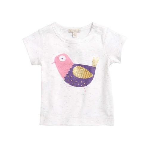 Little Birdie Oatmeal Tee