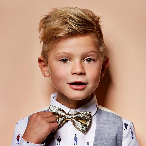 Razzle Dazzle Gold Bow Tie