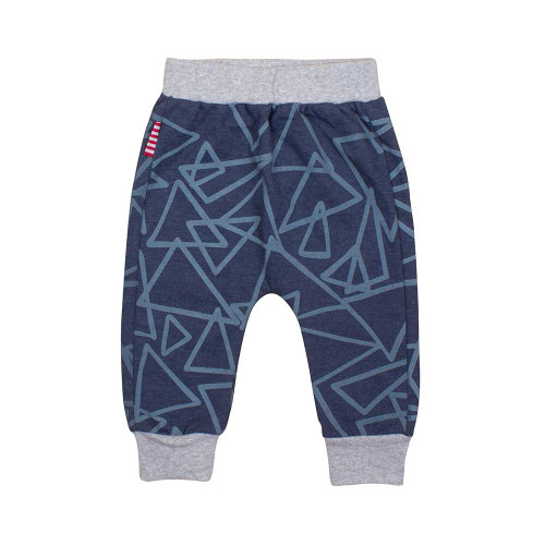 Abstract Sweat Pant Blue