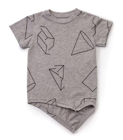 Geometric Penguin T-Shirt Grey