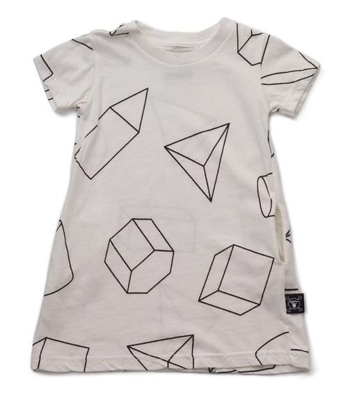 Geometric A Dress White