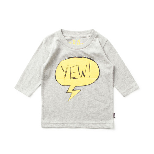 Yewh Grey L/S Tee
