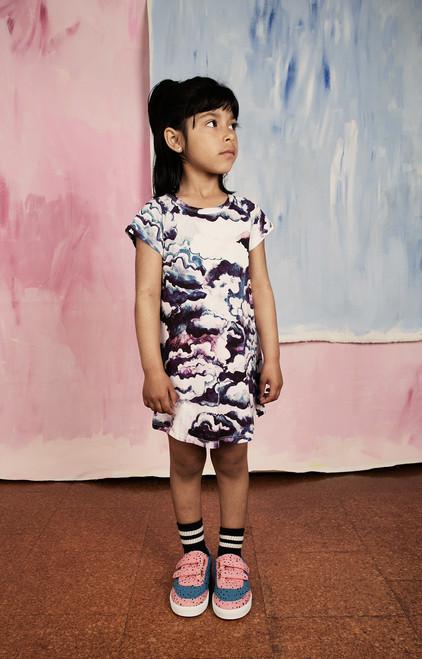 Purple Clouds Raglan Dress