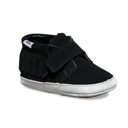 Infant Suede Chukka V Moc Black Shoes