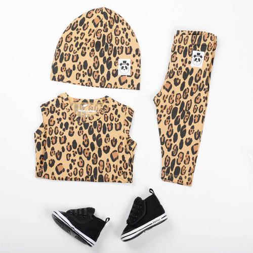Basic Leopard Beanie Beige
