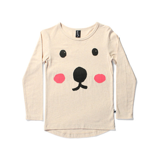 Bear Face LS Tail Tee
