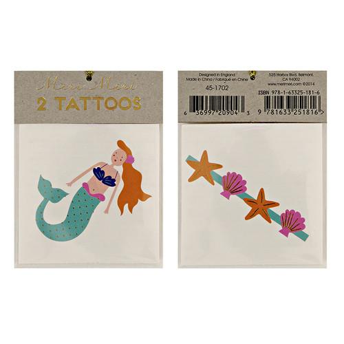 Mermaid and Sea Shells Tattoos