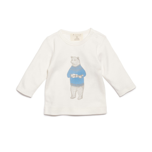 Hello Bear Long Sleeve Top