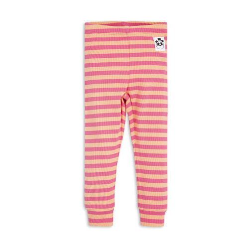 Stripe Rib Leggings Pink