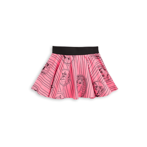 Fox Family Skirt Pink