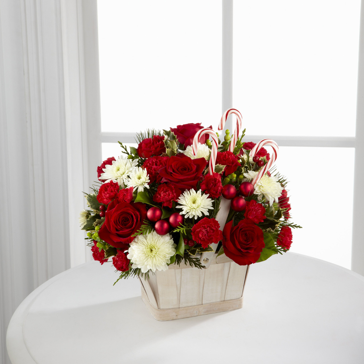 Candy cane lane bouquet long island flower delivery izmirmasajfo