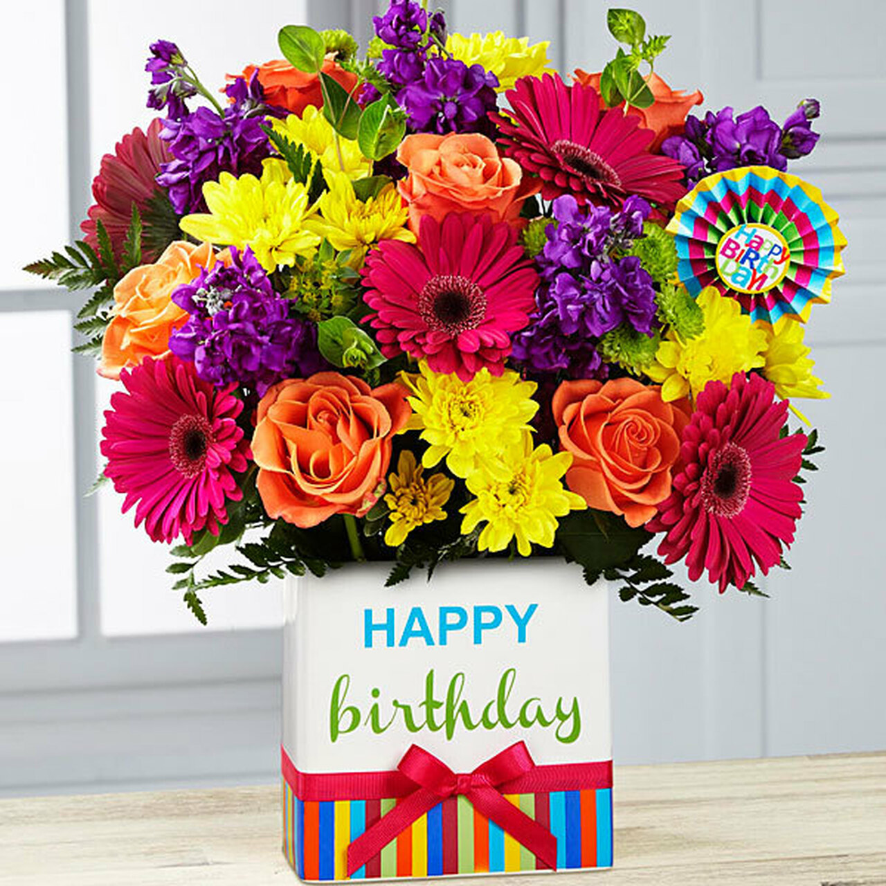 Birthday brights bouquet flowers long island - Bunch of roses hd images ...