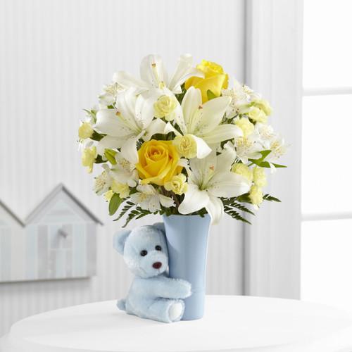 Baby Boy Big Hug Bouquet Long Island Flower Delivery